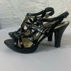 Naturalizer N5 Comfort Strappy Heels Black Size 9M